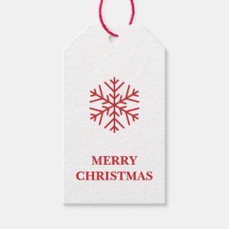Etiquetas del regalo del copo de nieve del navidad etiquetas para regalos