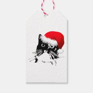 Etiquetas del regalo del gato de Santa Etiquetas Para Regalos