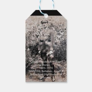 Etiquetas del regalo del héroe de la guerra
