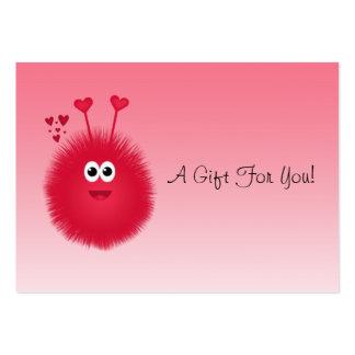 Etiquetas del regalo del insecto del amor tarjetas de negocios