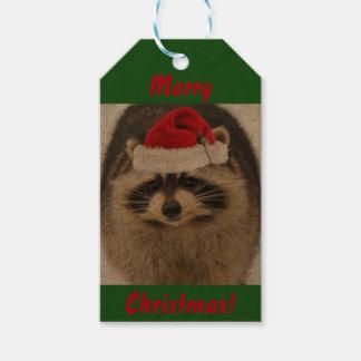 Etiquetas del regalo del mapache del navidad etiquetas para regalos