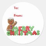 Etiquetas del regalo del navidad