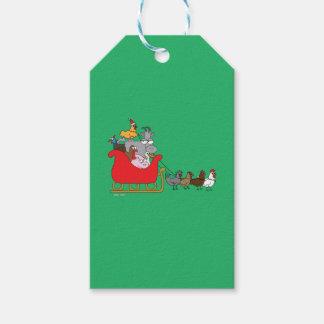 Etiquetas del regalo del navidad de la granja etiquetas para regalos