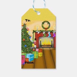 Etiquetas del regalo del navidad de la Nochebuena