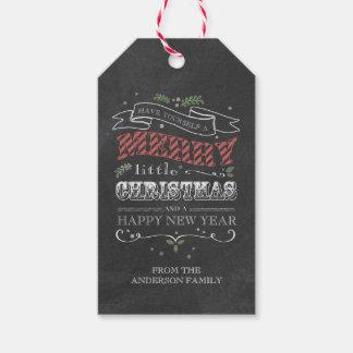 Etiquetas del regalo del navidad de la pizarra etiquetas para regalos