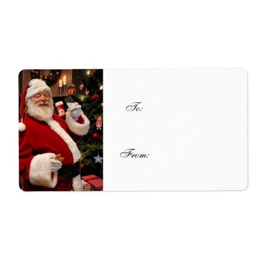 Etiquetas del regalo del navidad de Papá Noel