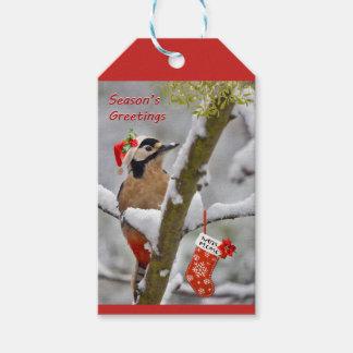 Etiquetas del regalo del navidad de Woodies