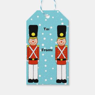 Etiquetas del regalo del navidad del soldado del