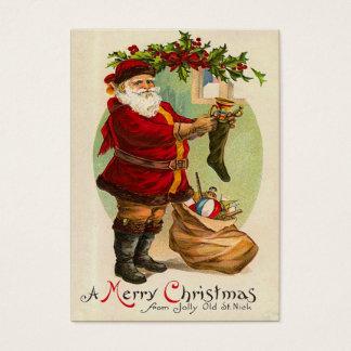 Etiquetas del regalo del navidad del vintage