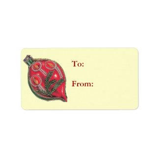 Etiquetas del regalo del ornamento del navidad etiqueta de dirección