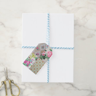 Etiquetas del regalo del papel pintado del vintage etiquetas para regalos