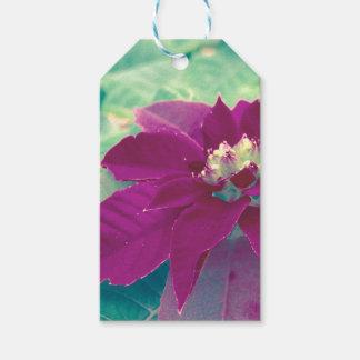 Etiquetas del regalo del Poinsettia Etiquetas Para Regalos