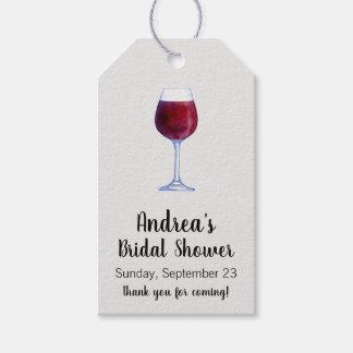 Etiquetas del regalo del vino o etiquetas del