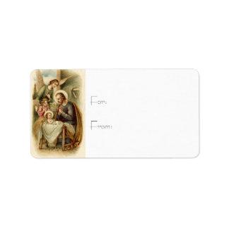 Etiquetas del regalo: Natividad de San José Etiquetas De Dirección