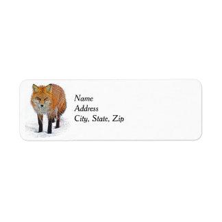 Etiquetas del remite con arte del Fox