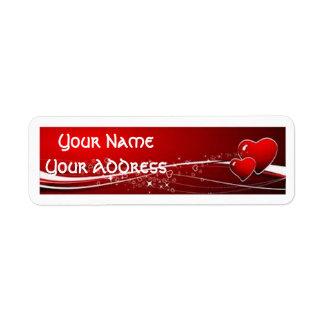 Etiquetas del remite de día de San Valentín