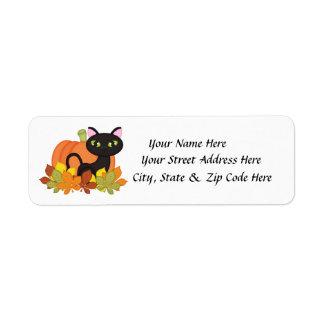 Etiquetas del remite de Halloween de la calabaza