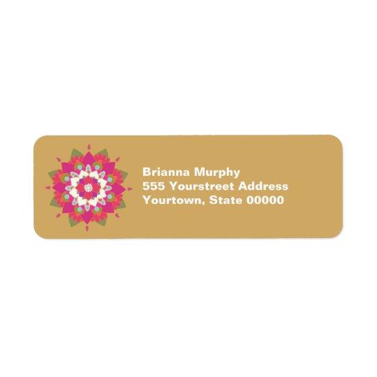 Etiquetas del remite de la flor de Lotus Etiqueta De Remitente