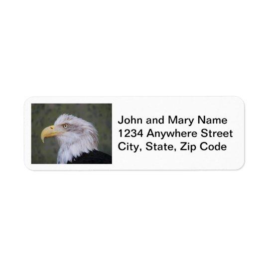 Etiquetas del remite de la foto de Eagle calvo