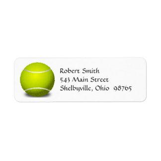 Etiquetas del remite de la pelota de tenis