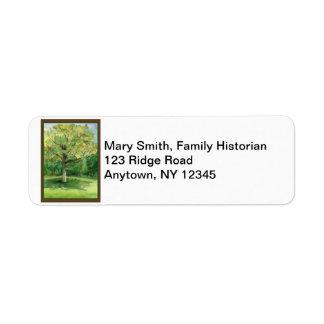 Etiquetas del remite de la reunión de familia etiqueta de remite