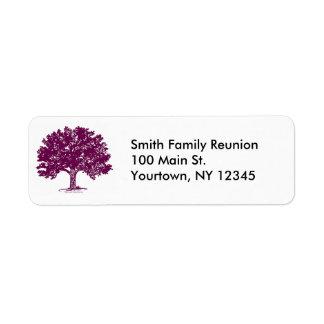 Etiquetas del remite de la reunión de familia etiquetas de remite