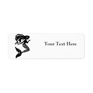 Etiquetas del remite de la sirena etiqueta de remite