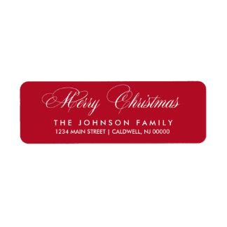 Etiquetas del remite de las Felices Navidad