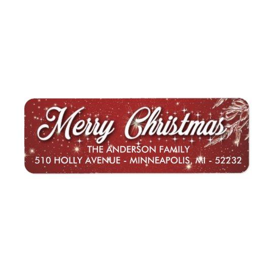 Etiquetas del remite de las Felices Navidad Etiqueta De Remitente