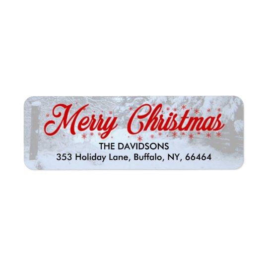 Etiquetas del remite de las Felices Navidad - Etiquetas De Remite