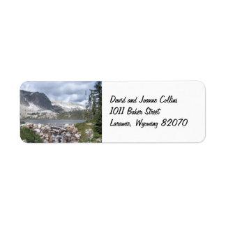 Etiquetas del remite de las montañas de Marie del  Etiqueta De Remitente