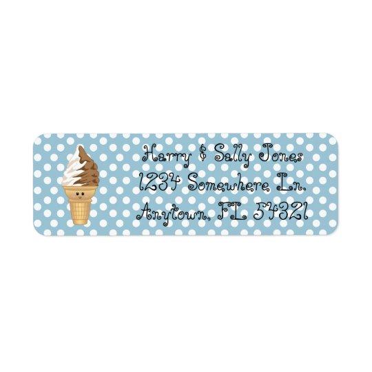 Etiquetas del remite del bebé del remolino etiqueta de remite