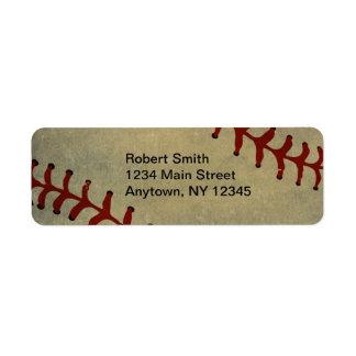 Etiquetas del remite del diseño del béisbol etiquetas de remite