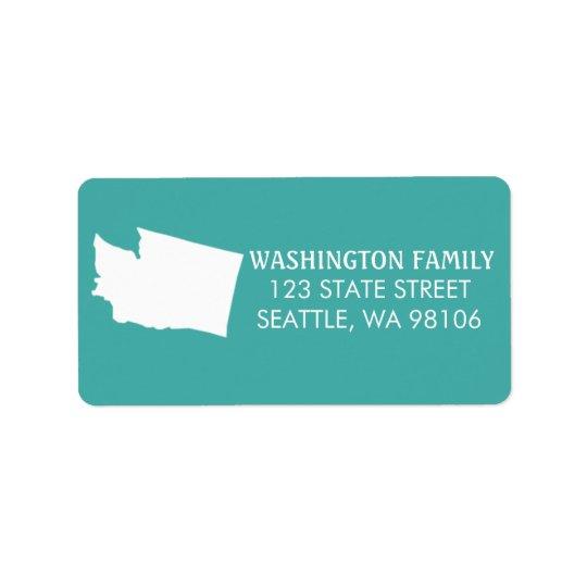 Etiquetas del remite del estado de Washington -