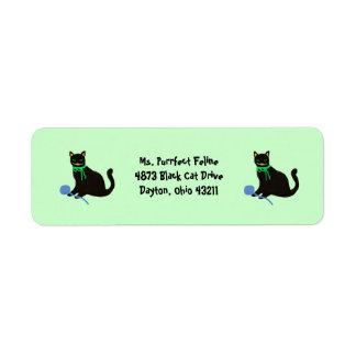 Etiquetas del remite del gato negro etiquetas de remite