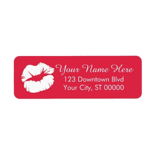 Etiquetas del remite del labio etiqueta de remitente