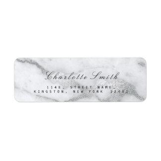 Etiquetas del remite del mármol del blanco de gris