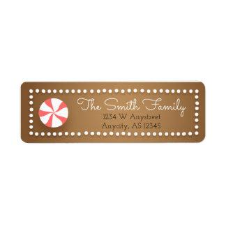 Etiquetas del remite del navidad del pan de etiqueta de remitente