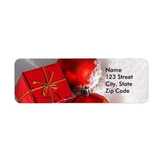 Etiquetas del remite del navidad o etiquetas del r etiqueta de remitente
