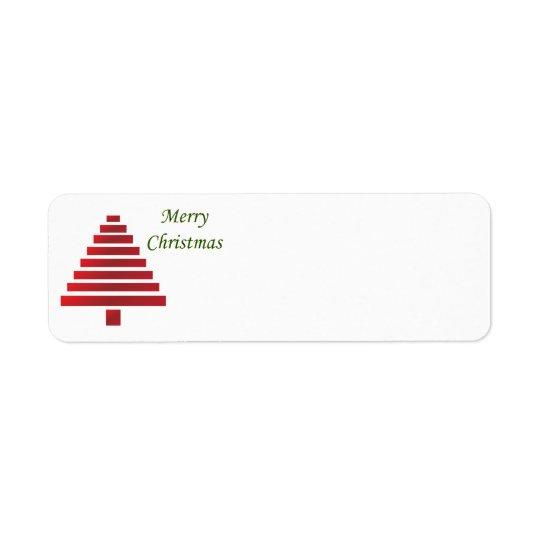 Etiquetas del remite del navidad - personalizable
