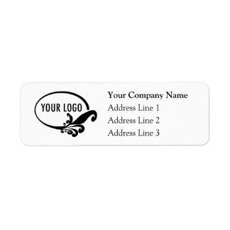 Etiquetas del remite del negocio con el logotipo