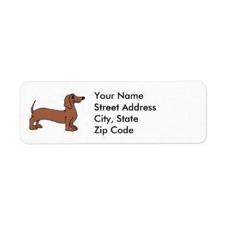 Etiquetas del remite del perro del Dachshund Etiquetas De Remite