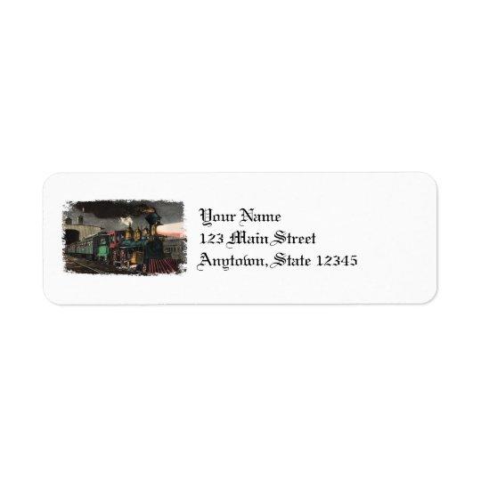 Etiquetas del remite del tren expreso de la noche etiqueta de remite