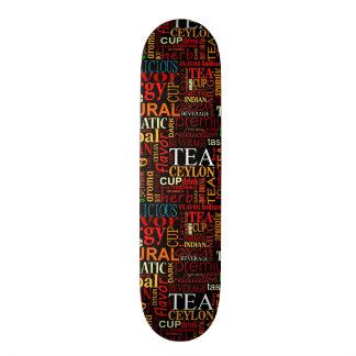 Etiquetas del té patines personalizados