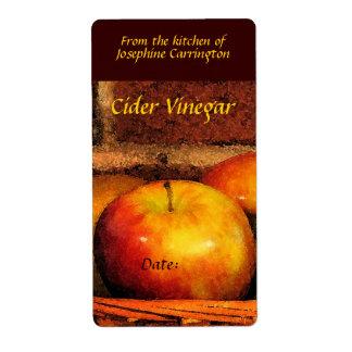 Etiquetas del vinagre de sidra etiqueta de envío