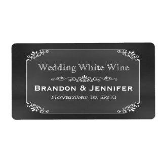 Etiquetas del vino del boda de encargo elegante de etiqueta de envío