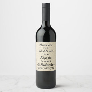 Etiquetas divertidas de la botella de vino de la