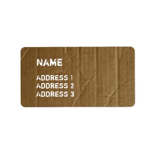 Etiquetas divertidas de la cartulina etiqueta de dirección