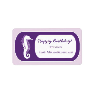 Etiquetas divertidas de la etiqueta del regalo de etiqueta de dirección
