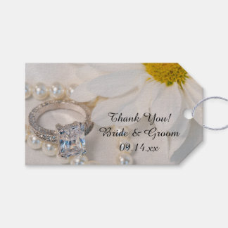 Etiquetas elegantes del favor del boda de la